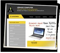 Gépház webshop