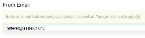 válasz e-mail
