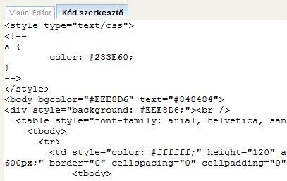 tartalom kódokkal